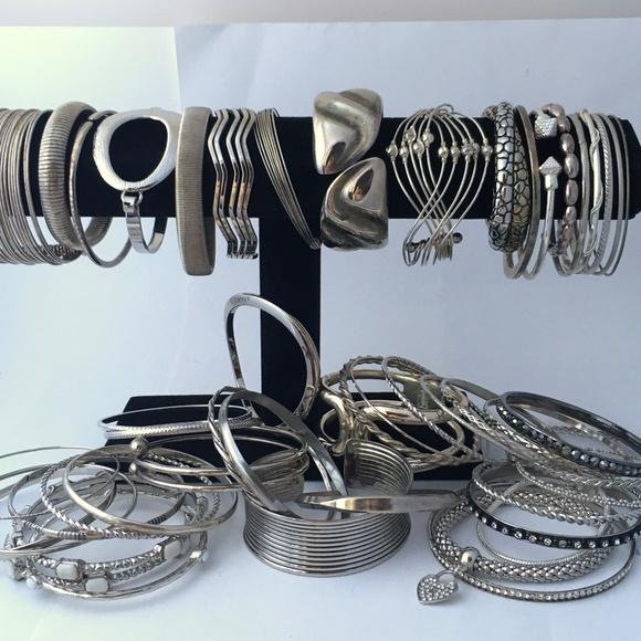 Vintage To Now Lot Of 50 Bracelets Clamper Bangle